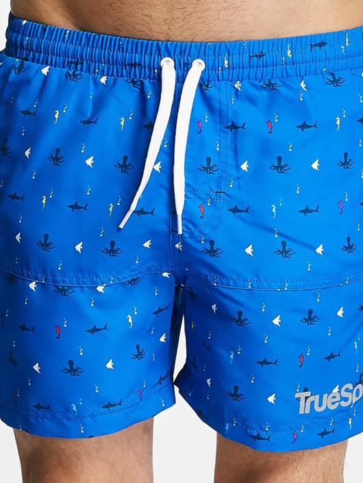 TrueSpin Badeshorts Underwater Print blå