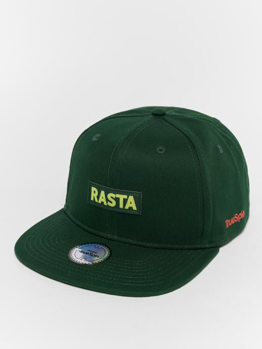 TrueSpin snapback cap Rasta groen