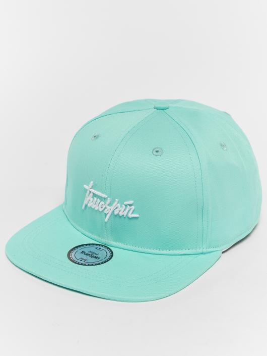 TrueSpin Snapback Caps Script blå