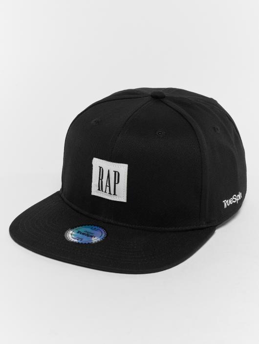 TrueSpin Snapback Caps Rap musta