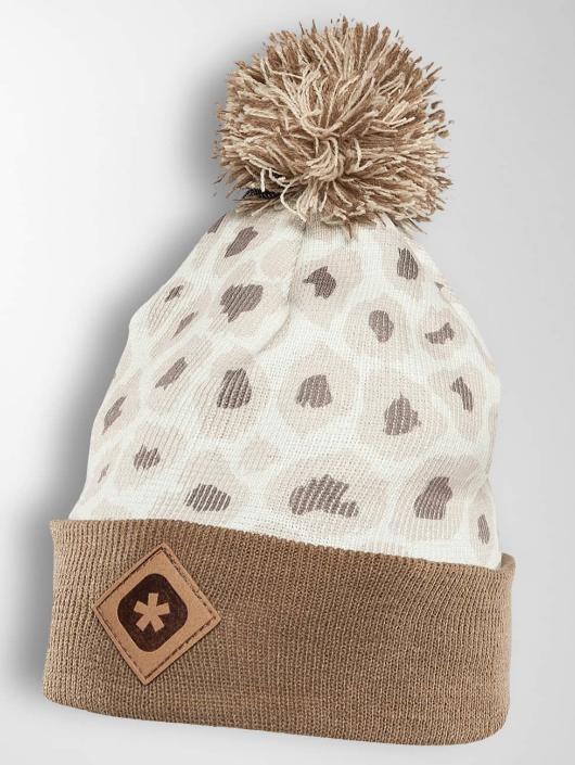 TrueSpin Winter Bonnet Cheetah beige