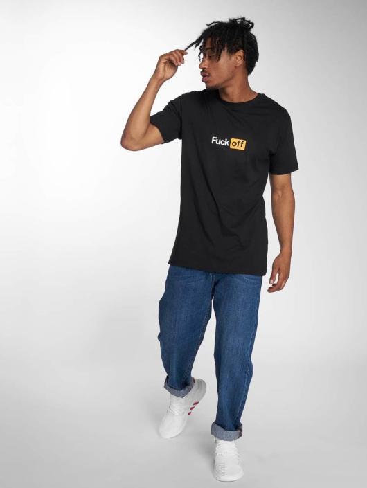 TurnUP T-skjorter Fuck Off svart