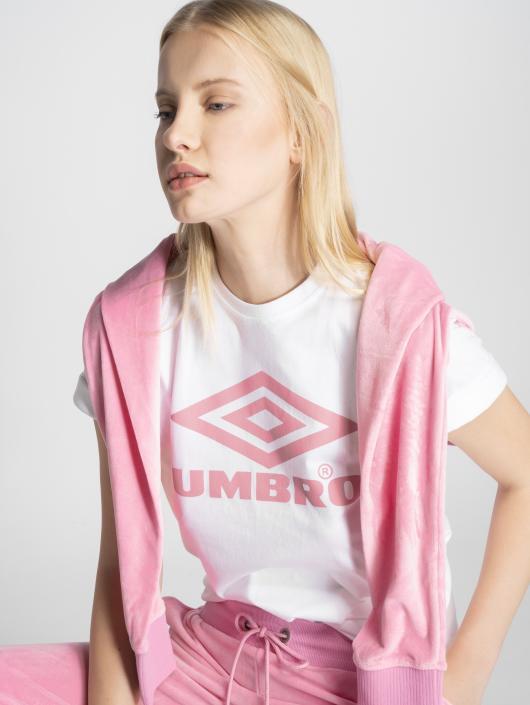 Umbro T-Shirt Boyfriend Fit Logo weiß