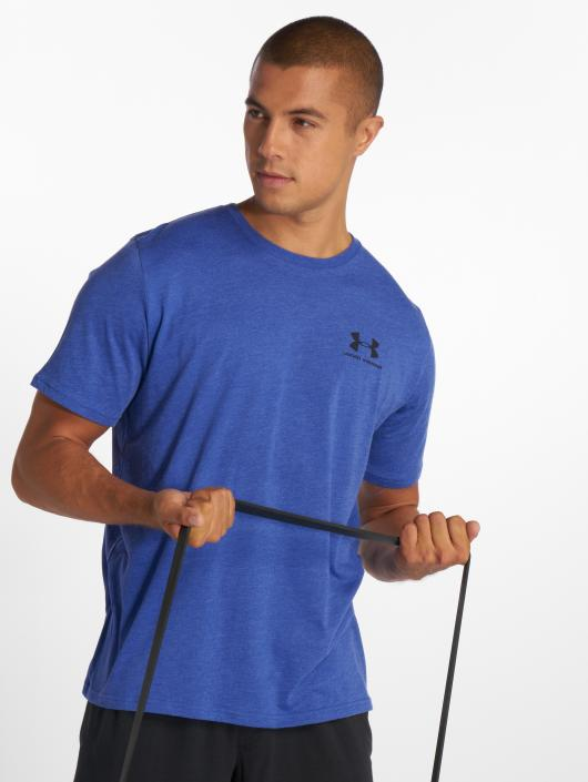 Under Armour Sportshirts Sportstyle Left Chest niebieski