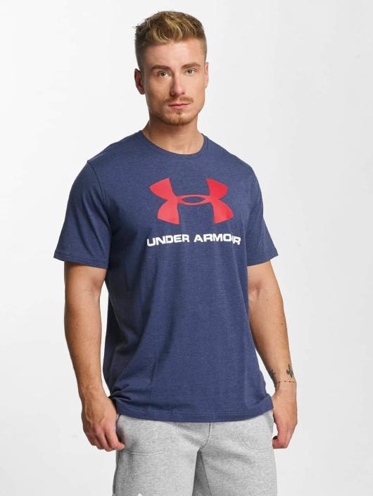 Under Armour T-Shirty Charged Cotton niebieski