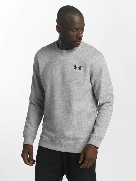 Under Armour trui Rival Solid Fitted grijs