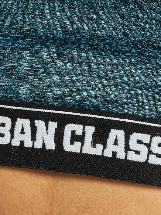 Urban Classics Športová podprsenka Active Melange Logo tyrkysová