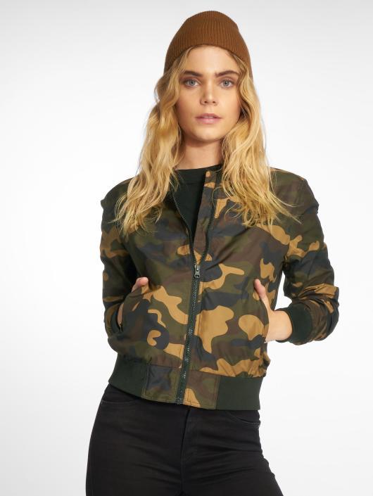 Urban Classics Куртка-бомбардир Ladies Light Camo камуфляж