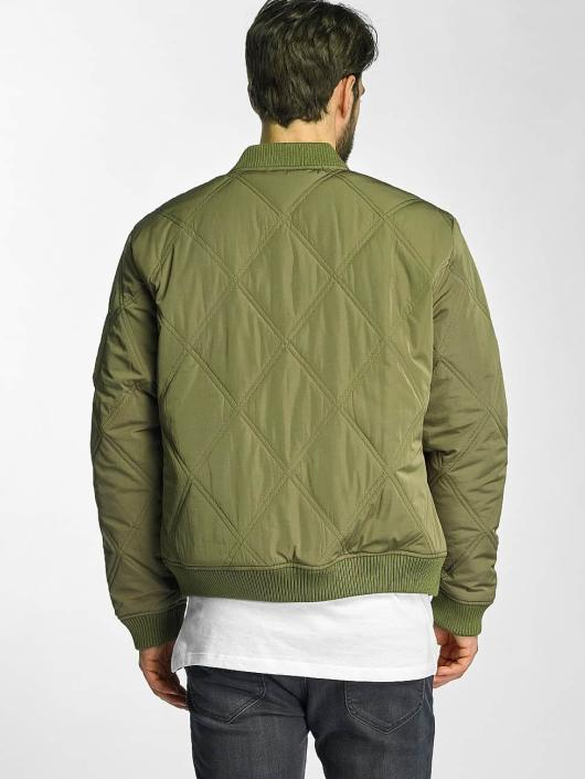 Urban Classics Куртка-бомбардир Big Diamond Quilt оливковый