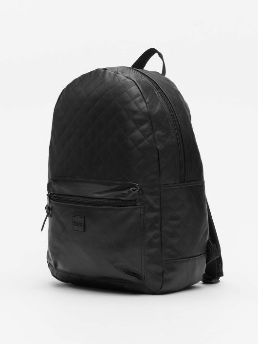 Urban Classics Backpack Diamond Quilt Leather Imitation black