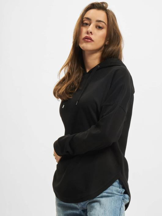 Urban Classics Bluzy z kapturem Ladies Oversized Terry czarny