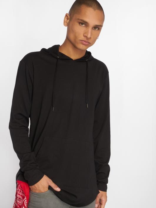 Urban Classics Bluzy z kapturem Jersey czarny