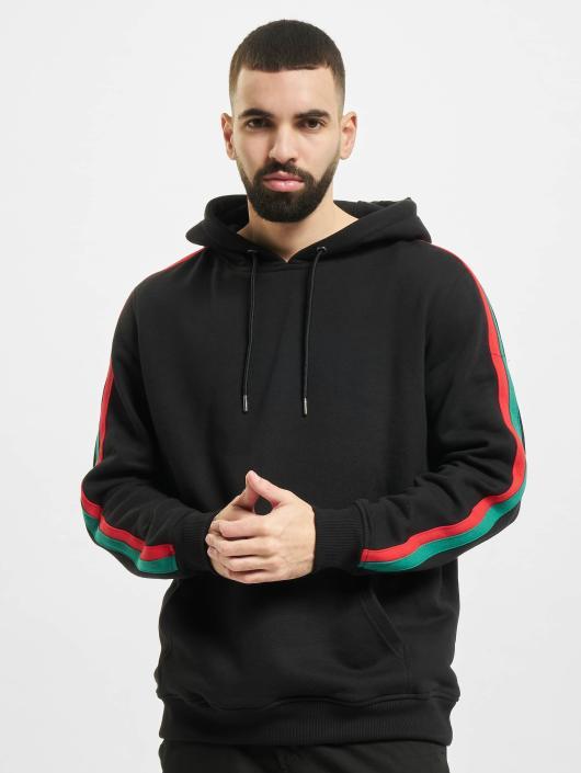Urban Classics Bluzy z kapturem Stripe Hoody czarny