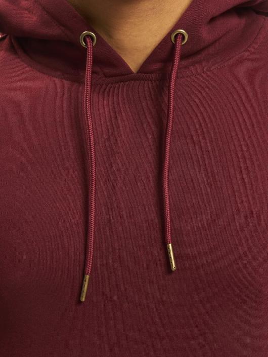 Urban Classics Bluzy z kapturem Basic czerwony