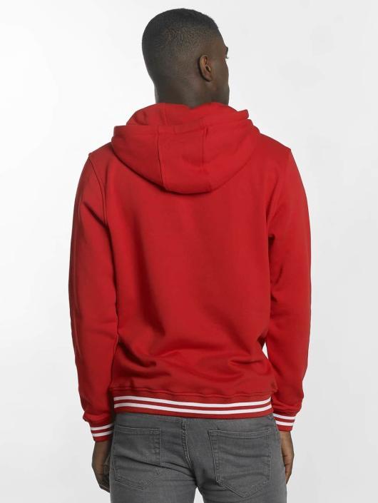 Urban Classics Bluzy z kapturem College czerwony