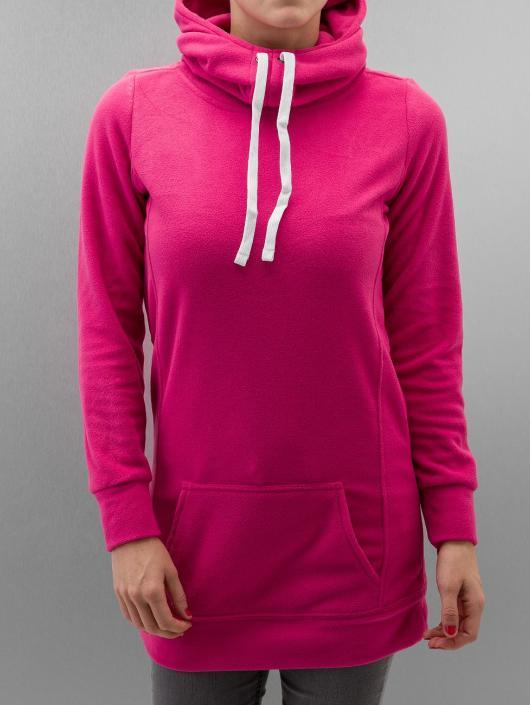 Urban Classics Bluzy z kapturem Ladies Long pink