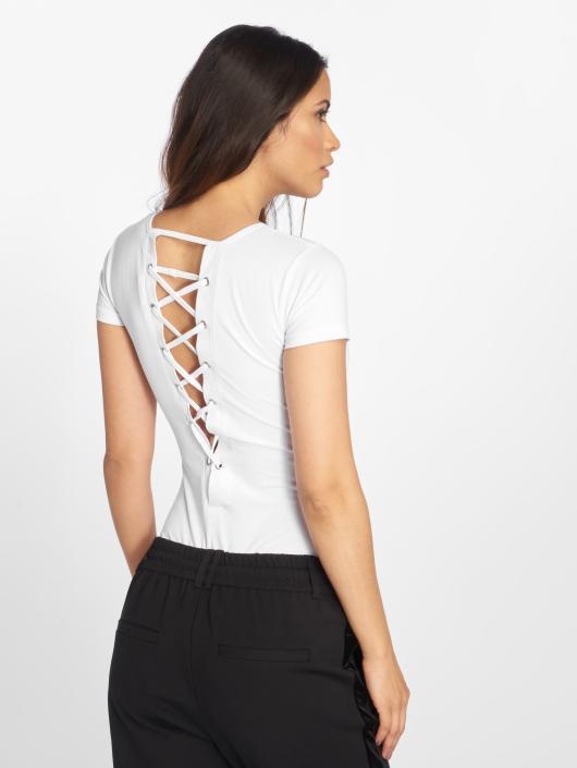 Urban Classics Body Ladies Lace Up hvit