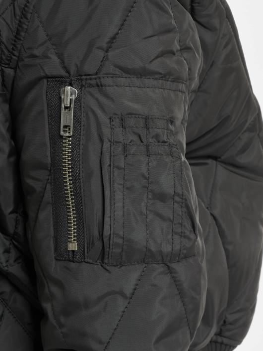 Urban Classics Bomber jacket Diamond Quilt Short black