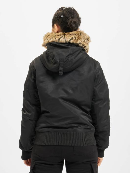 Urban Classics Bomber jacket Imitation Fur black