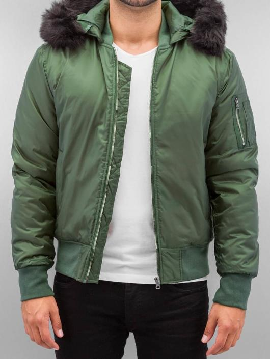 Urban Classics Bomber jacket Hooded Basic olive