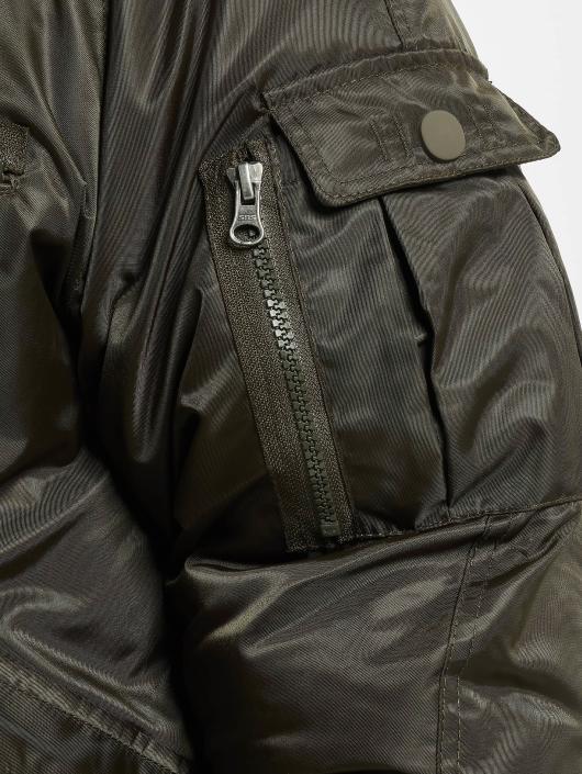 Urban Classics Bomber jacket Hooded Heavy Fake Fur Bomber olive