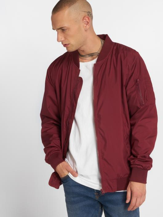 Urban Classics Bomber jacket Light Bomber red