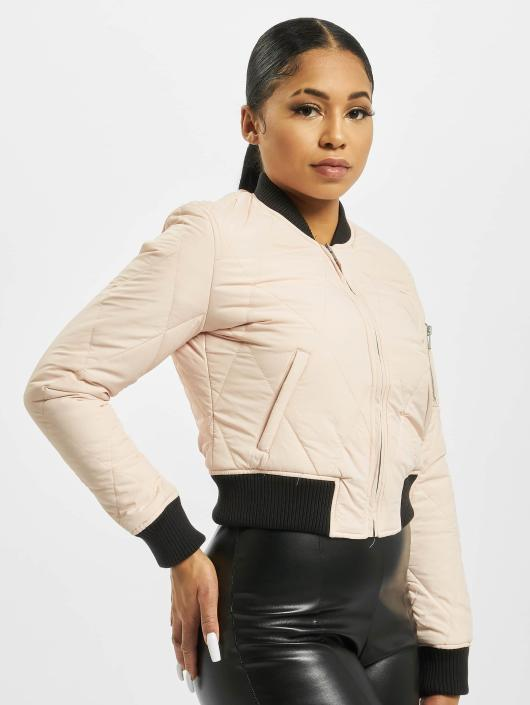 Urban Classics Bomber jacket Diamond Quilt Short rose