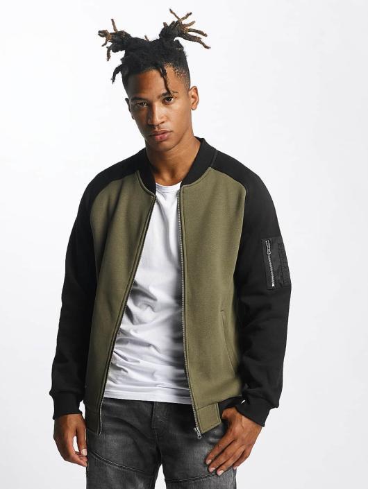 online store 46bb6 48266 Urban Classics 2 Tone Bomber Jacket Olive/Black
