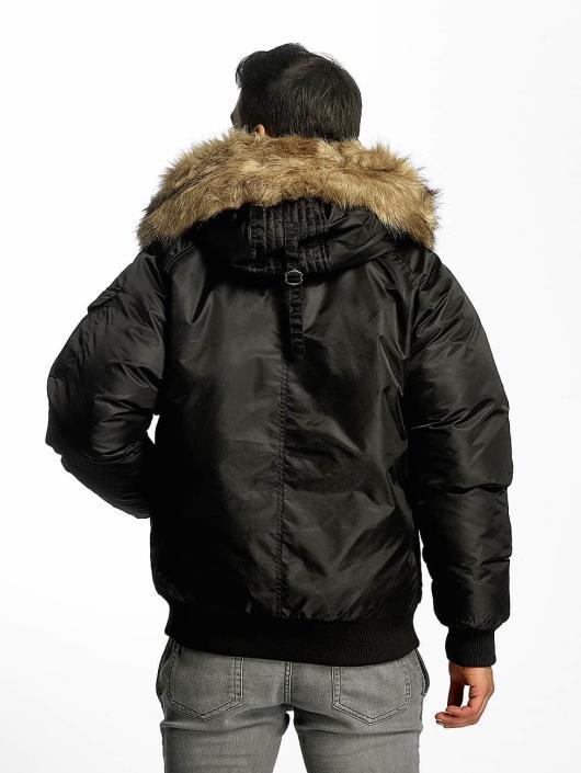 Urban Classics Bomberjacke Hooded Heavy Fake Fur Bomber schwarz