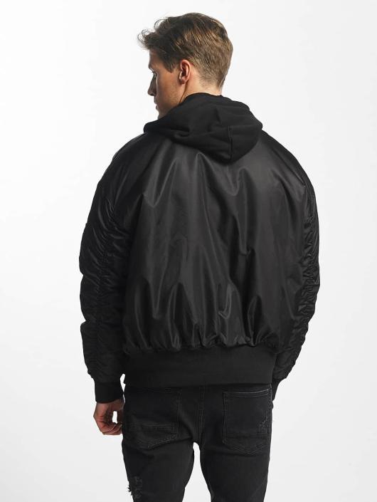 Urban Classics Bomberová bunda Hooded Oversized èierna