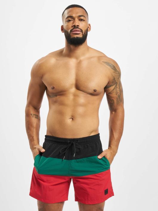 Urban Classics Boxer da mare Color Block rosso