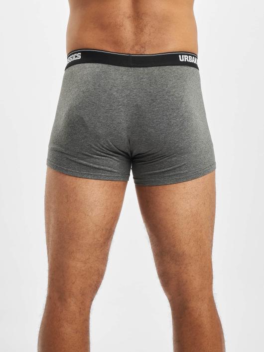 Urban Classics Boxer Short Mens Double Pack gray