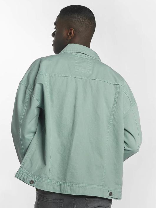Urban Classics Bundy na přechodné roční období Garment Dye Oversize tyrkysový