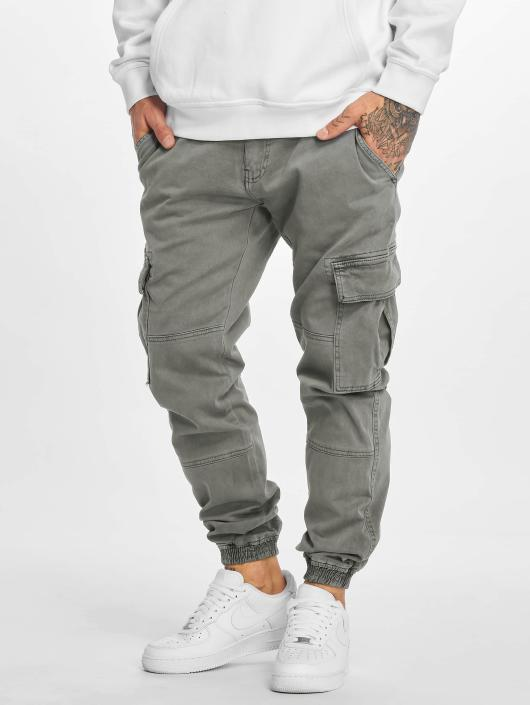Urban Classics Cargobroek Washed Cargo Twill Jogging grijs