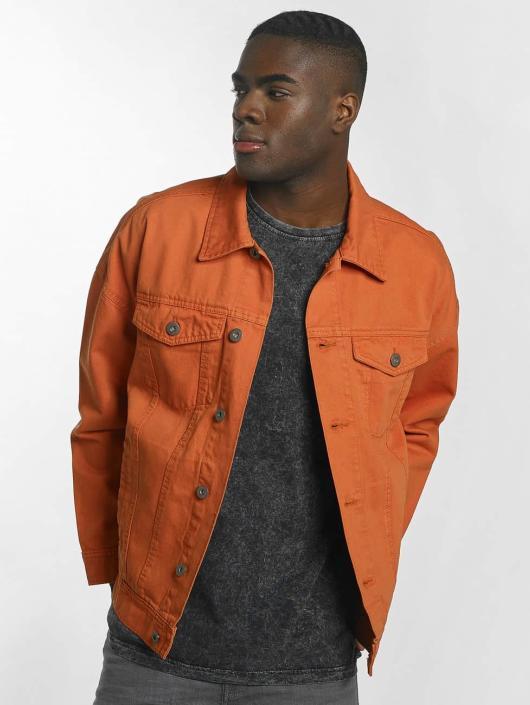 Urban Classics Chaqueta de entretiempo Garment Dye Oversize naranja
