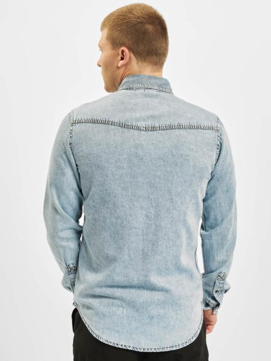 Urban Classics Chemise Denim Pocket bleu