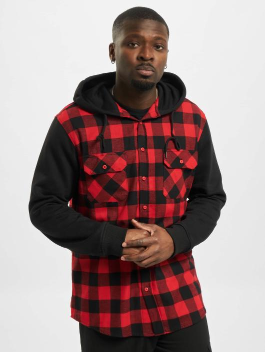 Rouge Checked Sweat Homme Sleeve Flanell Chemise Urban Hooded 105174 Classics H2eDIWEY9