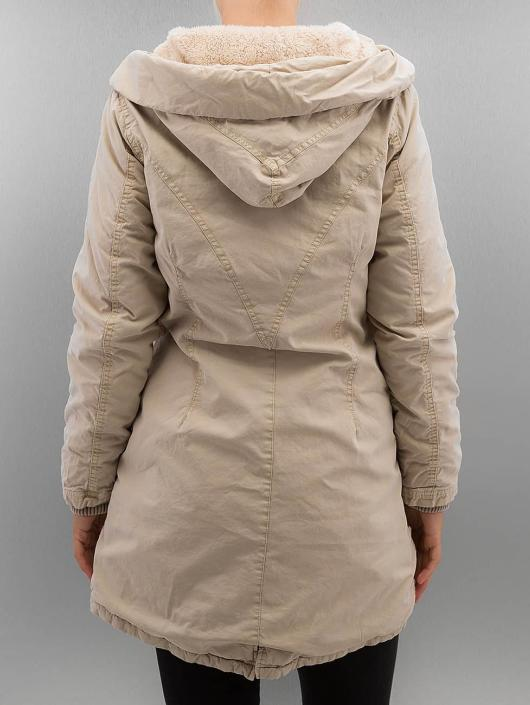 Urban Classics Coats Garment Washed Long beige