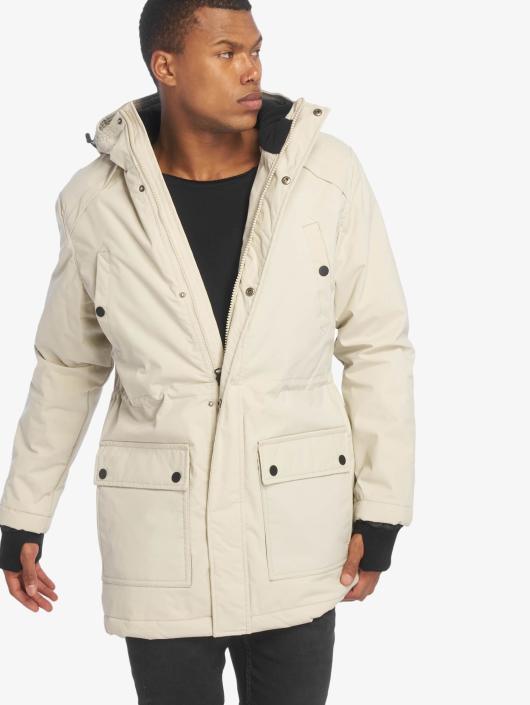 Urban Classics Coats Hooded Heavy Thumbhole beige