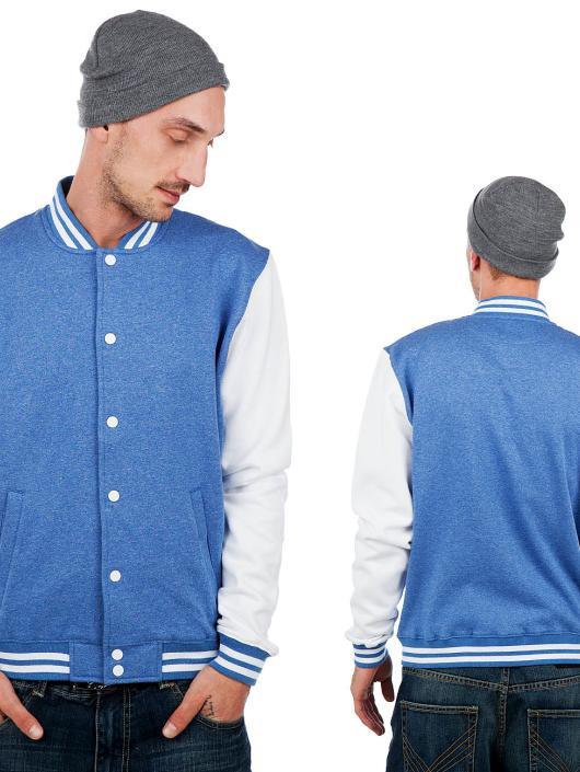 Melange Jacket Bluewhite College Sweat Nor Urban Classics Kl1FTc3J