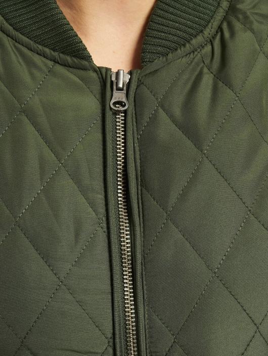 Urban Classics College Jacke Diamond Quilt Nylon olive