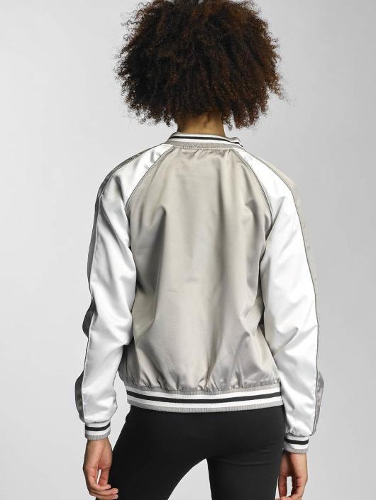 Urban Classics College Jacket 3 Tone Souvenir silver colored