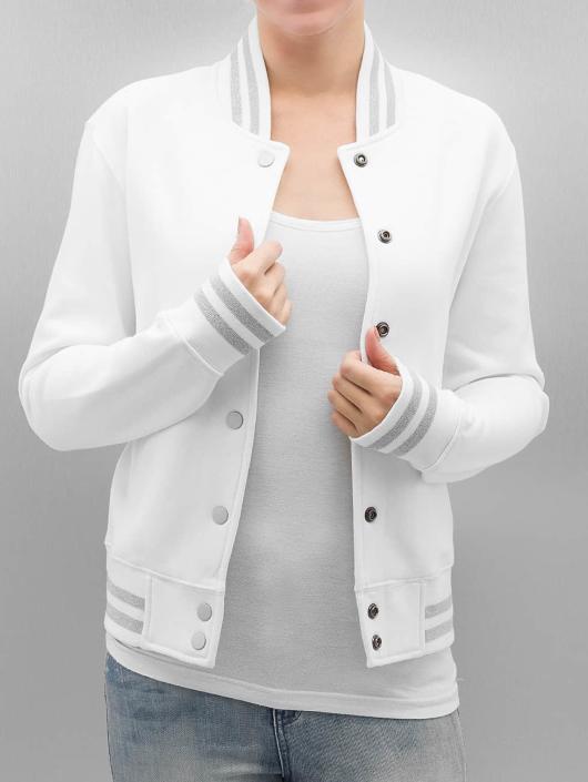 Urban Classics College jakke Ladies Metallic hvit
