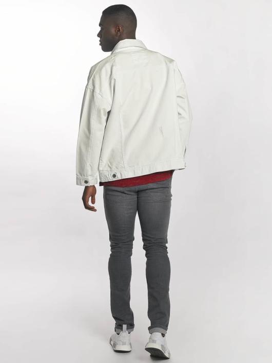 Urban Classics Džínová bunda Ripped Denim bílý