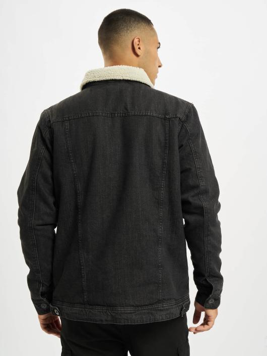 Urban Classics Denim Jacket Sherpa black