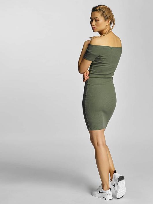 Urban Classics Dress Off Shoulder Rib olive