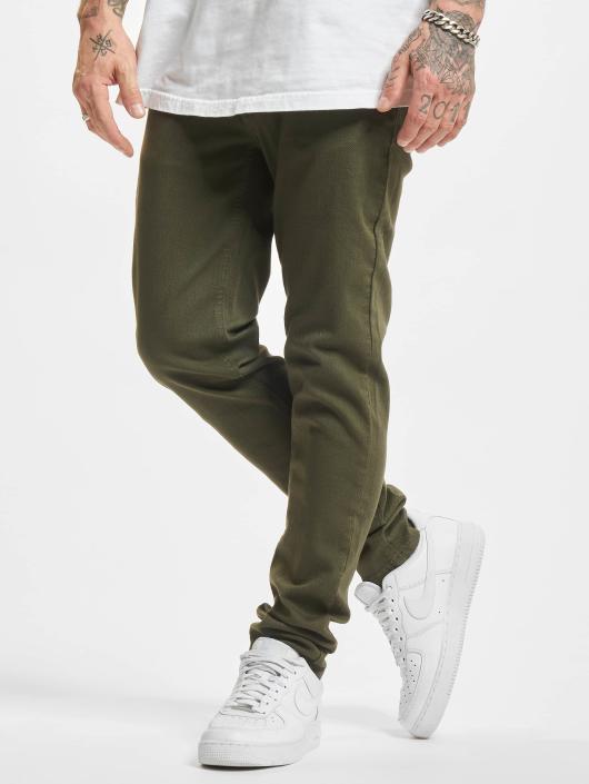 Urban Classics Dżinsy straight fit Basic Twill 5 Stretch Pocket oliwkowy