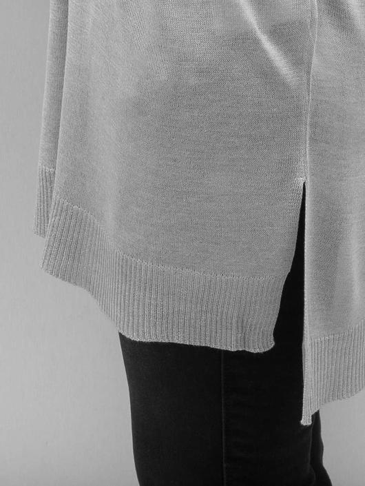 Urban Classics Gensre Ladies Fine Knit Oversize V-Neck grå