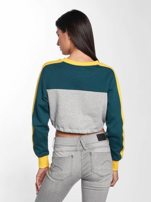 Urban Classics Gensre 3-Tone Stripe Cropped grå