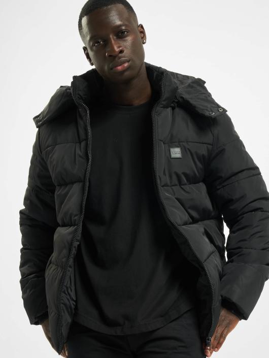 Urban Classics Gewatteerde jassen Hooded Puffer zwart